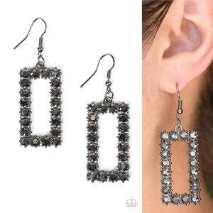 Rectangle Bling Earrings